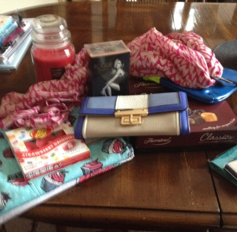 The pile of opened presents!